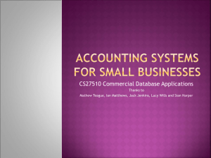 Accounting Systems for Small Businesses
