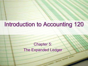 Chapter 5 - #1 - The Expanded Ledger