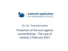Protection of the euro against counterfeiting