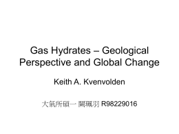 Gas Hydrates – Geological Perspective and Global Change