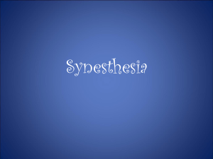 Synesthesia Power Point