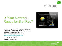 Apple iPad in Enterprise Networks