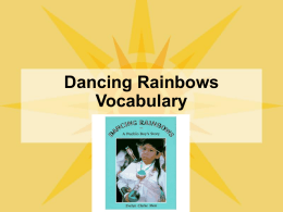 Dancing Rainbows Vocabulary PowerPoint