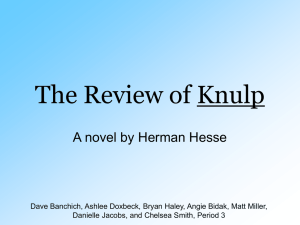 The Review of Knulp