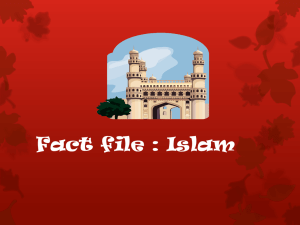 Fact file : Islam