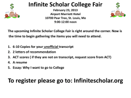 Infinite Scholar College Fair
