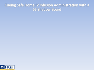 5S Shadowboard for Home IV Med Admin