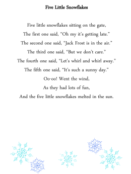 Five Little Snowflakes