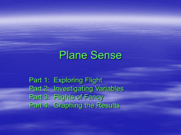 Plane Sense Review Power Point