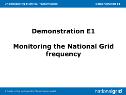 E1 Monitoring the National Grid frequency