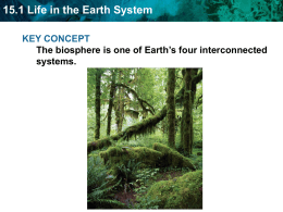 15.1 Life in the Earth System