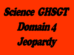 Domain 4 Jeopardy Game