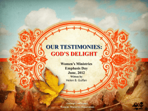 PowerPoint - Women`s Ministries