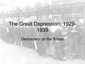 The Great Depression, 1929-1939