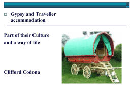 GYPSY CULTURE TRADITIONS,