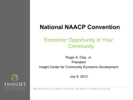 Economic Opportunity in Your Community