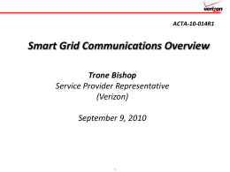 Smart Grid Communications Overview