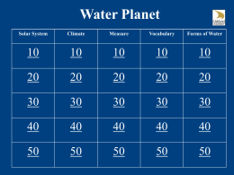 WaterPlanet Jeopardy Game