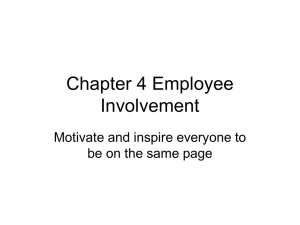 Chapter 4. Employee Involvement