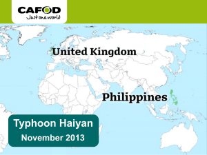 Typhoon Haiyan ppt for schools