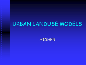 URBAN LANDUSE MODELS - Clydebank High School