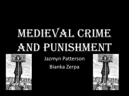 Medieval Crime and Punishment p3