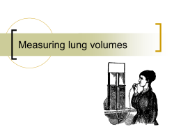 Measuring lung volumes