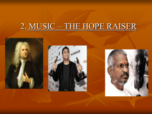 2. MUSIC – THE HOPE RAISER