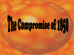 The Compromise of 1850