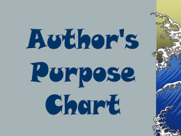 author`s purpose chart