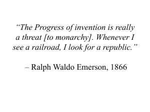 """The Progress of invention is really a threat [to monarchy]. Whenever"