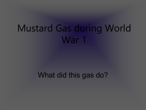 Mustard Gas during World War 1