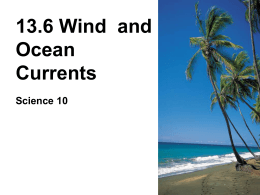 13.6 Wind and Ocean Currents