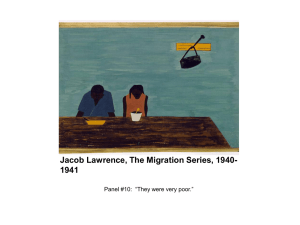 Jacob Lawrence, The Migration Series, 1940-1941