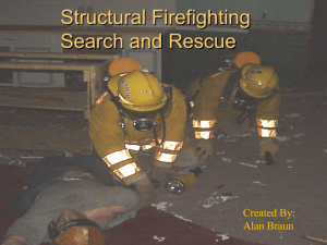 Structural firefighting, search and rescue
