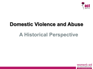 Domestic Violence - a historial perspective