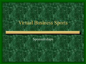 Sponsorship Powerpoint