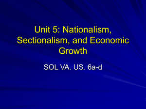 Unit 5: Nationalism, Sectionalism, and Economic Growth