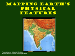 Geography Mapping Physical Features & Climate