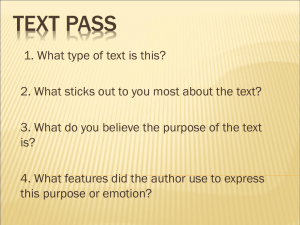 Powerpoint: Text Pass