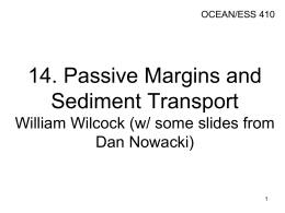 Passive Margins and Sediment Transport