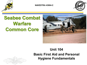 PPT: Common Core 104 First Aid