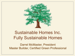Fully Sustainable Homes