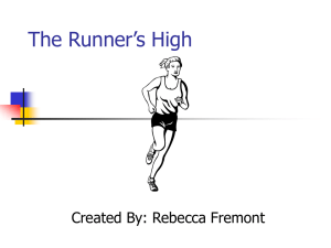 PowerPoint Presentation - The Runner`s High