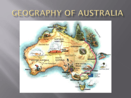 Geography of Australia PowerPoint