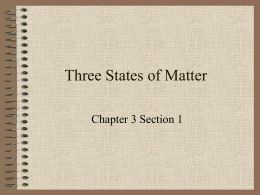 Three States of Matter - Red Hook Central School District