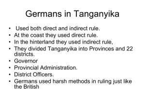 Germans in Tanganyika