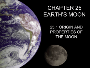 CHAPTER 25 EARTH`S MOON