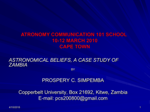 Astronomical Beliefs - Communicating Astronomy With The Public