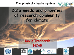 Data needs and priorities of research community for climate
